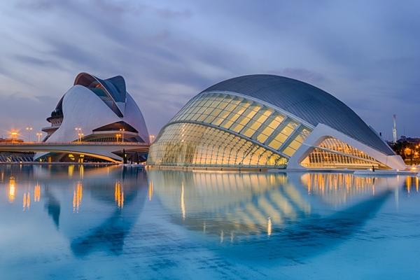 Die Stadt der Künste und Wissenschaften in Valencia